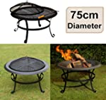 east2eden Black Steel 75cm Patio Heat...