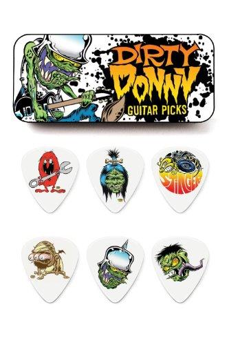 Jim Dunlop BL111T60 .60mm Blackline Dirty Donny Series 1 Guitar Pick Tin, 6-Pack jim jams браслеты
