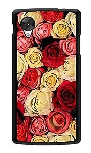 "Humor Gang Multi Colored Roses Love Printed Designer Mobile Back Cover For ""Lg Google Nexus 5"" (3D, Glossy, Premium Quality Snap On Case)"
