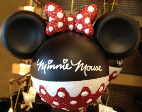 Disney Parks Minnie Mouse Glitter Ornament - Disney Parks Exclusive & Limited Availability
