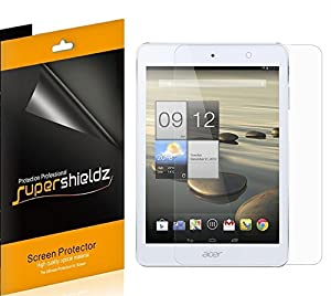 [3-Pack] SUPERSHIELDZ- High Definition Clear Screen Protector For Acer Iconia A1-830 + Lifetime Replacements Warranty [3-PACK] - Retail Packaging by SUPERSHIELDZ