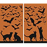 "WOWindow Posters Cats & Bats Halloween Window Decoration Two 34.5""x60"" posters"