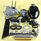 2-stroke Cycle 49cc Bicycle Engine Motor Kits for Motorized Silver Gas Engine Muffler