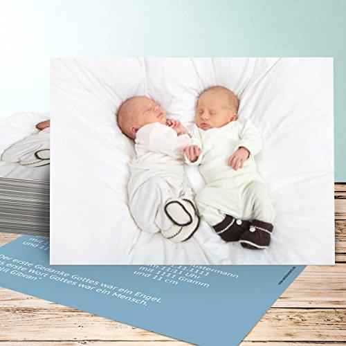 geburtskarten selber machen erdling zwillinge 70 karten horizontal einfach 148x105 inkl wei e. Black Bedroom Furniture Sets. Home Design Ideas