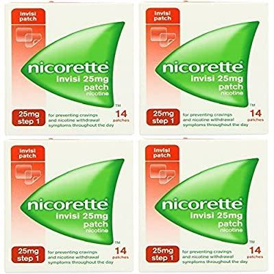 NICORETTE INVISI 25MG PATCH NICOTINE 4x14 = 56 PATCHES STEP 1 STOP QUIT SMOKING EXP: 06 / 2015 from NICORETTE