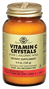 Solgar Vitamin C Crystals Tablets, 4.4 Ounce