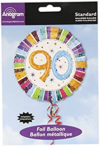 "Anagram International Radiant Birthday 90th Balloon, 18"", Multicolor"
