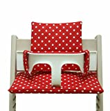 Blausberg Baby High Chair Cushion for Tripp Trapp Red with dots coated