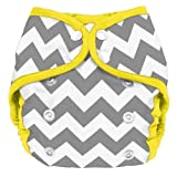 Planet Wise Diaper Cover, Gray Chevron, Size 2