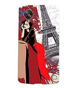 Fuson Eiffel Tower Girl Back Case Cover for LG GOOGLE NEXUS 5 - D4072