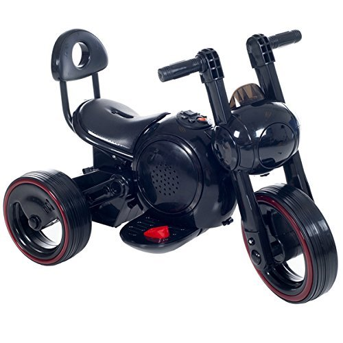 Fun, Sleek LED Space Traveler Trike in Black With Lights and Sounds - For 18 Months to 4 Years by Lil' Rider