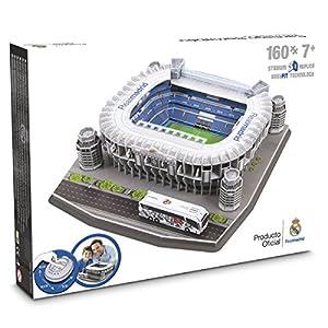 Amazon.com: Maqueta/Puzzle 3D - Estadio Santiago Bernabeu 34x34x10