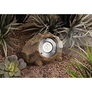 Smith & Hawken® High-Output Solar Rock Light Set (Set of 2 Lights) - Sandstone Brown