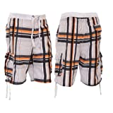 Brave Soul Mens Swimming Shorts with Check Pattern