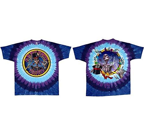 Liquid Blue Men's Grateful Dead Queen of Spades T-Shirt, Medium Spades Tie Dye T-Shirt