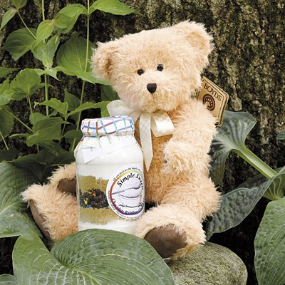 CUDDLES AND COOKIES GIFT BASKET - FEATURING COLLECTIBLE BOYDS BEAR AND COOKIE MIX
