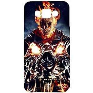 Casotec Ghost Rider Motorcycle Design Hard Back Case Cover for Samsung Galaxy E7