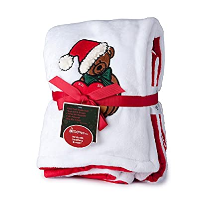 Ultra Super Soft Fleece Christmas Baby Blanket from Winkiepops
