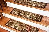 Dean Premium Carpet Stair Treads - Panel Kerman Chocolate Rug Runners 31