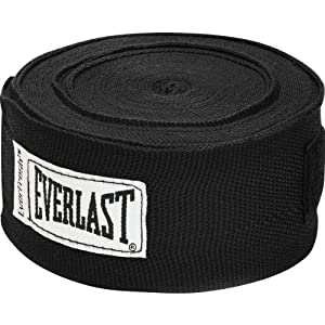 Everlast Professional Hand Wraps, 180-Inch, Black