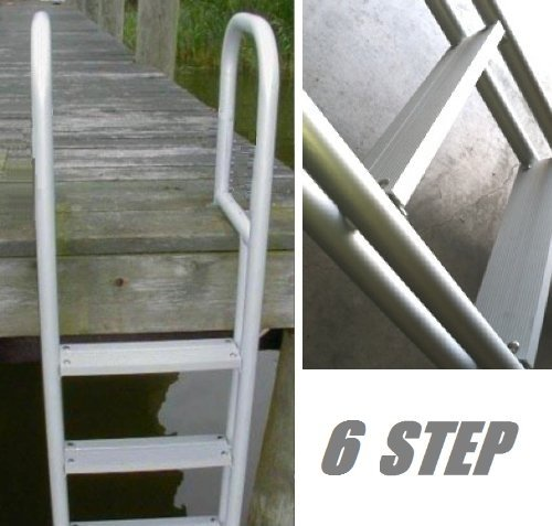 6 Step Heavy Duty Anodized Aluminum Swim Pier Dock Ladder