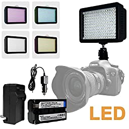 Julius Studio NEW 160 LED 160 Dimmable Ultra High Power Panel Digital Camera / Camcorder Video Light, LED Light for Canon, Nikon, Pentax, Panasonic, SONY, Samsung and Olympus Digital SLR Cameras JGG2286