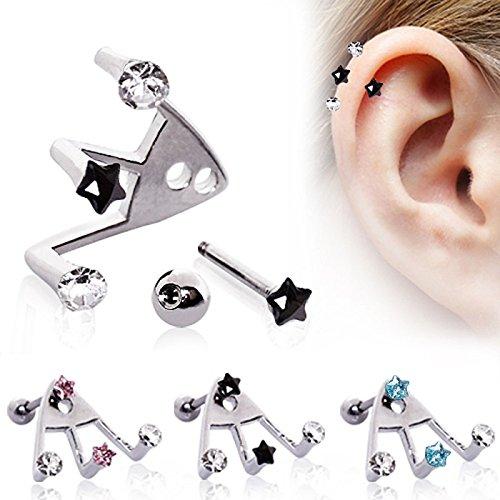piercing-cartilage-trident-etoile-turquoise