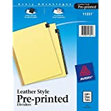 Avery(R) Black Leather Index Tab Dividers, Jan.-Dec.