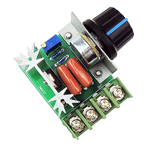 uniquegoods AC 50-220V 2000W(max) 25A SCR Constant Voltage AC Motor Speed Controller LED Dimmers (Ac Speed Control compare prices)