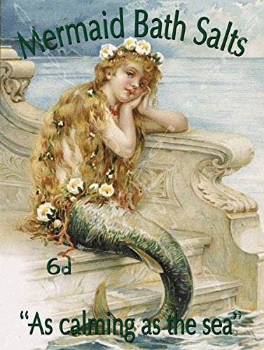 Mermaid Bath Salts Metal Sign