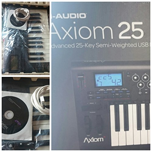 Axiom 25 -Key Semi Weighted Usb Midi Keyboard Controller With Assignable Control Surface
