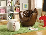 BASEBALL GLOVE CHAIR OTTOMAN