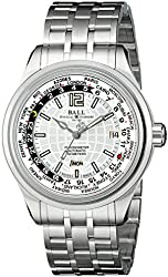 Ball Men's GM1020D-S1CAJ-S Trainmaster Analog Display Swiss Automatic Silver Watch