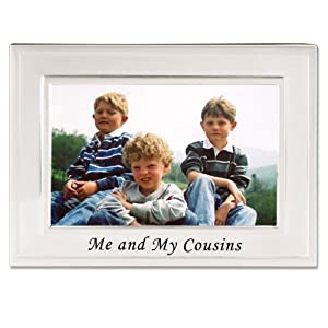 Lawrence Frames Sentiments Collection, Brushed Metal 4 by 6 Me and My Cousins Picture Frame