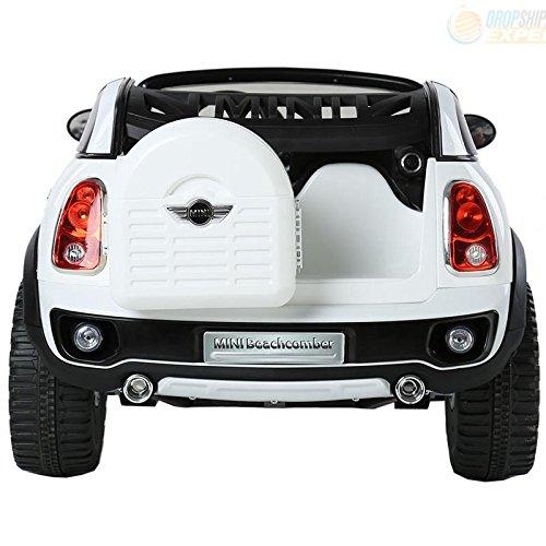 electric battery ride on car for kids mini cooper beachcomber model jj298 white