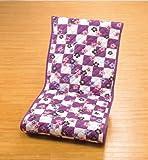 紫市松桜キルト座椅子用カバー