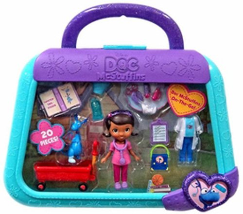 Just Play Doc McStuffins On The Go Case Stuffy Playset - 1
