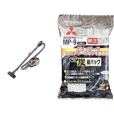 三菱電機 Be-k(ビケイ) 紙パック式クリーナー ブラウン Tc-fxf7p-t