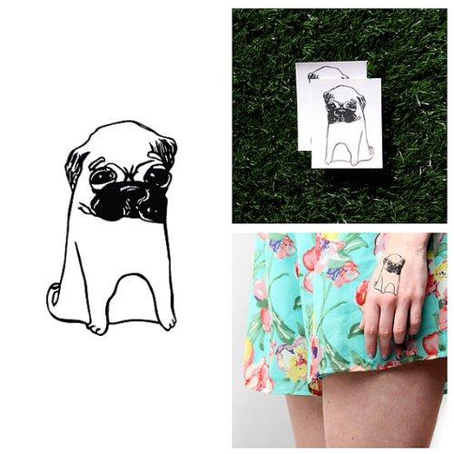 tatuaje-temporal-tattify-pug-hush-puppies-juego-de-2