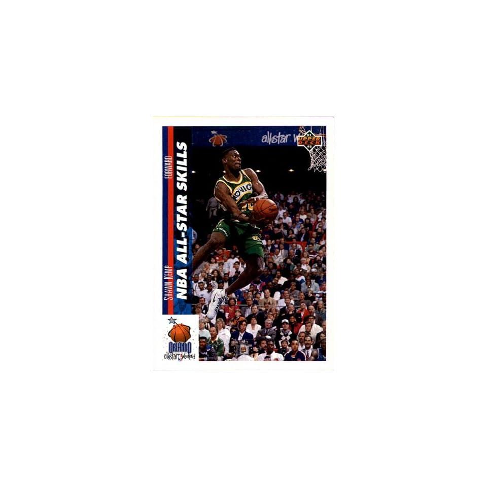 1992 Upper Deck   NBA All Star Skills   Shawn Kemp   Sonics   Card # 481