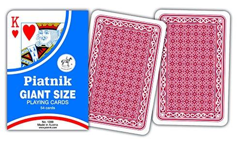 Piatnik Jumbo Playing Cards 7'' x 4.5''