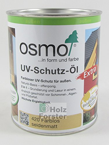 osmo color uv schutz l extra uv schutz f r den aussenbereich 420 0 750 l. Black Bedroom Furniture Sets. Home Design Ideas