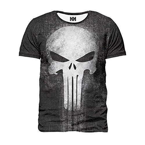 THE PUNISHER - Marvel Comics T-Shirt Man Uomo - Spiderman T-Shirt Serie TV Fumetti Film Supereroi Il Punitore Frank Castle