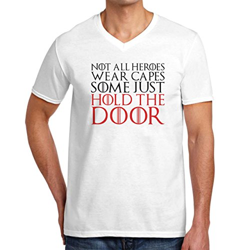 Not All Heroes Wear Capes Some Just Hold The Door Game Of Thrones XXL Uomini V-Neck