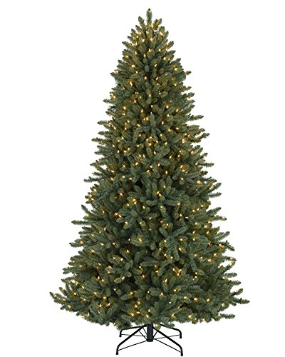 Christmas Tree Market™ Colorado Blue Spruce Artificial Christmas Tree, 7 Feet, Clear Lights