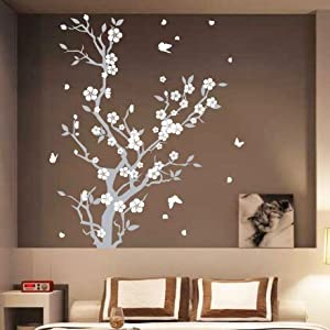 medium blossom flower tree butterfly wall arts wall 3d butterfly wall stickers girls wall stickers roommates
