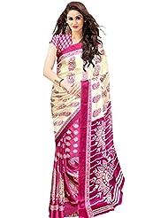 Trendz Women's Cotton Silk Saree (TZ_Keri_Pink_Pink)