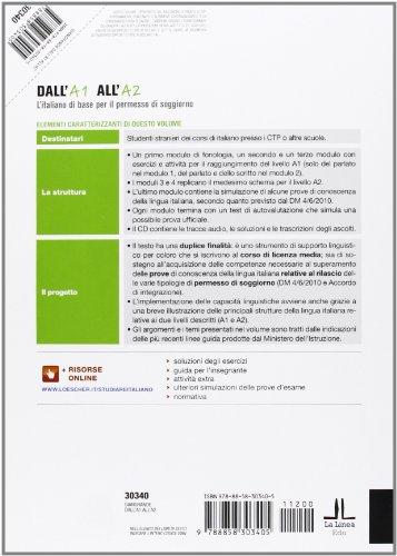 Libro dall 39 a1 all 39 a2 l 39 italiano di base per il permesso for Verifica permesso soggiorno