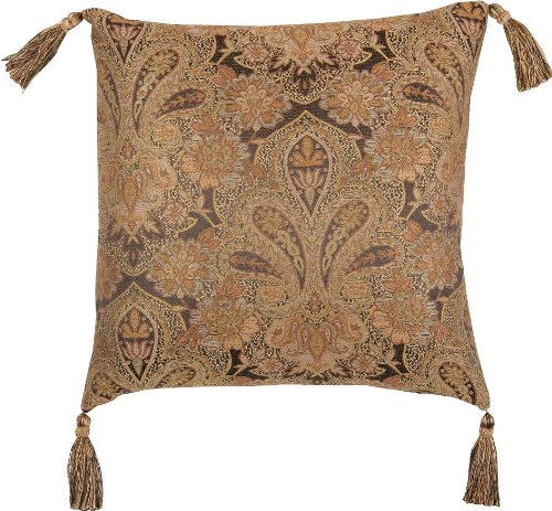 Bold Patterned Antique Gold And Bronze 18 X 18 Valenciaga Pillow front-314738