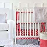 Best Deals Caden Lane Limited Edition Coral and Gray Crib Set